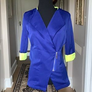 NWT Royal Blue & Electric Yellow Accented Blazer